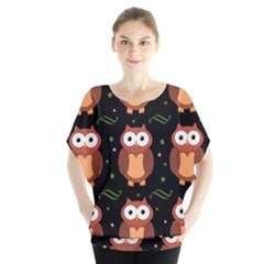 Halloween brown owls  Blouse