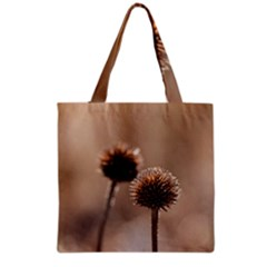 Withered Globe Thistle In Autumn Macro Grocery Tote Bag by wsfcow