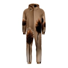 Withered Globe Thistle In Autumn Macro Hooded Jumpsuit (kids) by wsfcow