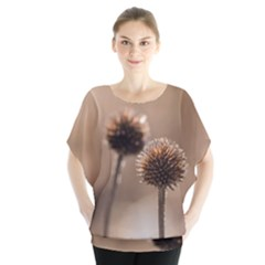 Withered Globe Thistle In Autumn Macro Blouse by wsfcow