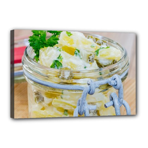 Potato salad in a jar on wooden Canvas 18  x 12