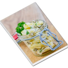 Potato salad in a jar on wooden Large Memo Pads