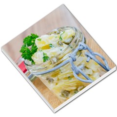 Potato salad in a jar on wooden Small Memo Pads