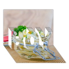 Potato Salad In A Jar On Wooden Boy 3d Greeting Card (7x5) by wsfcow