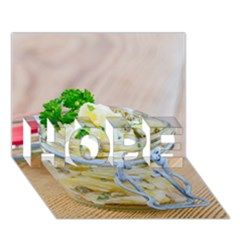 Potato Salad In A Jar On Wooden Hope 3d Greeting Card (7x5) by wsfcow