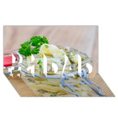 Potato salad in a jar on wooden #1 DAD 3D Greeting Card (8x4)