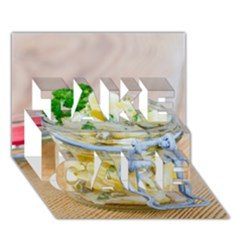 Potato salad in a jar on wooden TAKE CARE 3D Greeting Card (7x5)