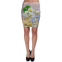 Potato salad in a jar on wooden Bodycon Skirt