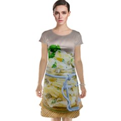 Potato Salad In A Jar On Wooden Cap Sleeve Nightdress by wsfcow