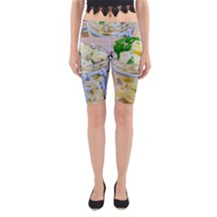 Potato Salad In A Jar On Wooden Yoga Cropped Leggings by wsfcow