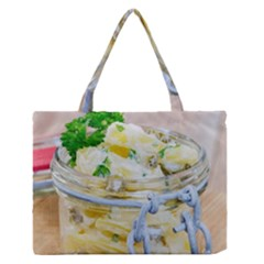 Potato Salad In A Jar On Wooden Medium Zipper Tote Bag by wsfcow