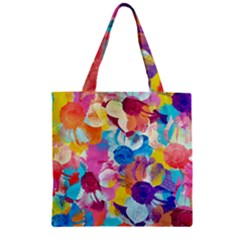 Anemones Zipper Grocery Tote Bag by DanaeStudio