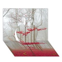 Magic Forest In Red And White Apple 3d Greeting Card (7x5) by wsfcow
