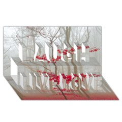 Magic Forest In Red And White Laugh Live Love 3d Greeting Card (8x4) by wsfcow