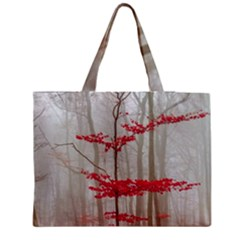 Magic Forest In Red And White Medium Tote Bag by wsfcow