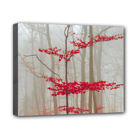 Magic Forest In Red And White Canvas 10  x 8