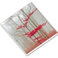 Magic Forest In Red And White Small Memo Pads by wsfcow