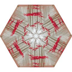 Magic Forest In Red And White Mini Folding Umbrellas by wsfcow