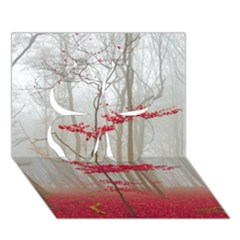 Magic Forest In Red And White Clover 3D Greeting Card (7x5)