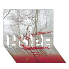 Magic Forest In Red And White Hope 3d Greeting Card (7x5)