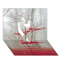 Magic Forest In Red And White Ribbon 3d Greeting Card (7x5) by wsfcow