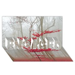 Magic Forest In Red And White ENGAGED 3D Greeting Card (8x4)