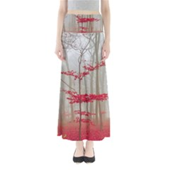 Magic Forest In Red And White Maxi Skirts
