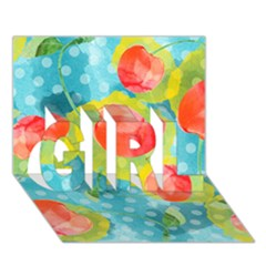 Red Cherries Girl 3d Greeting Card (7x5) by DanaeStudio