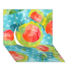 Red Cherries Circle 3d Greeting Card (7x5) by DanaeStudio