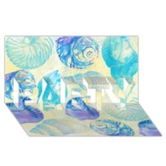 Seashells Party 3d Greeting Card (8x4) by DanaeStudio