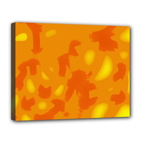 Orange Decor Canvas 14  X 11  by Valentinaart