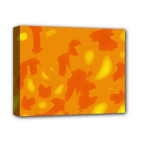 Orange Decor Deluxe Canvas 14  X 11  by Valentinaart