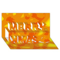 Orange Decor Merry Xmas 3d Greeting Card (8x4) by Valentinaart