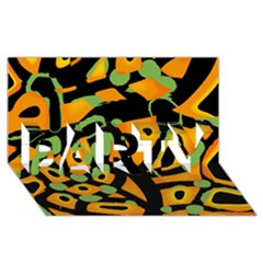 Abstract Animal Print Party 3d Greeting Card (8x4) by Valentinaart