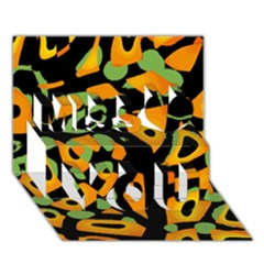 Abstract Animal Print Miss You 3d Greeting Card (7x5) by Valentinaart