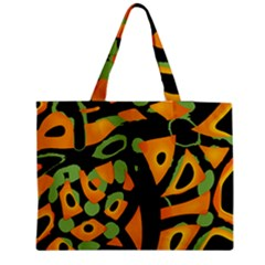 Abstract Animal Print Medium Zipper Tote Bag by Valentinaart