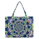 Power Spiral Polygon Blue Green White Medium Tote Bag View1