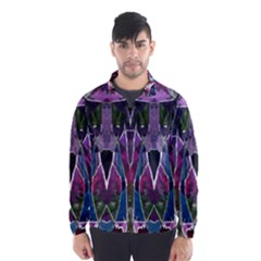 Sly Dog Modern Grunge Style Blue Pink Violet Wind Breaker (men) by EDDArt
