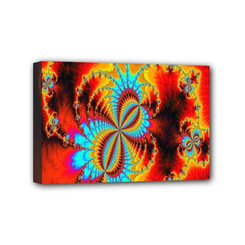 Crazy Mandelbrot Fractal Red Yellow Turquoise Mini Canvas 6  X 4  by EDDArt