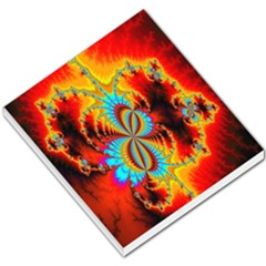 Crazy Mandelbrot Fractal Red Yellow Turquoise Small Memo Pads by EDDArt