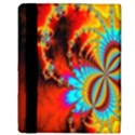 Crazy Mandelbrot Fractal Red Yellow Turquoise Apple iPad Mini Flip Case View3