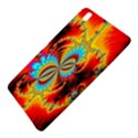 Crazy Mandelbrot Fractal Red Yellow Turquoise Samsung Galaxy Tab Pro 8.4 Hardshell Case View5