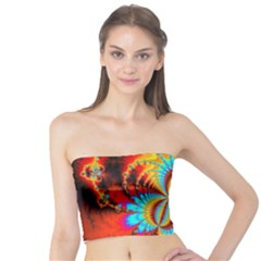 Crazy Mandelbrot Fractal Red Yellow Turquoise Tube Top