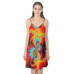Crazy Mandelbrot Fractal Red Yellow Turquoise Camis Nightgown
