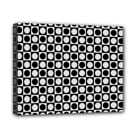 Modern Dots In Squares Mosaic Black White Canvas 10  X 8  by EDDArt