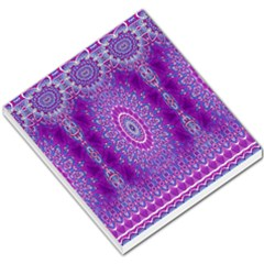 India Ornaments Mandala Pillar Blue Violet Small Memo Pads