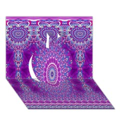 India Ornaments Mandala Pillar Blue Violet Apple 3D Greeting Card (7x5)