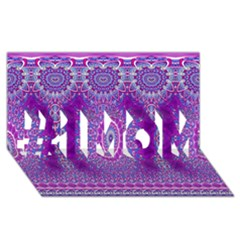 India Ornaments Mandala Pillar Blue Violet #1 MOM 3D Greeting Cards (8x4)