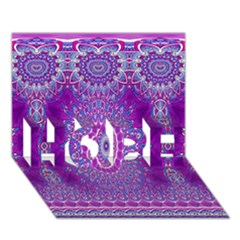 India Ornaments Mandala Pillar Blue Violet HOPE 3D Greeting Card (7x5)