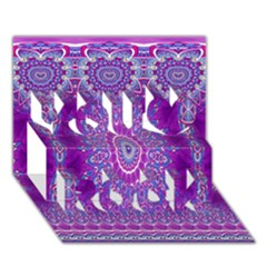 India Ornaments Mandala Pillar Blue Violet You Rock 3D Greeting Card (7x5)